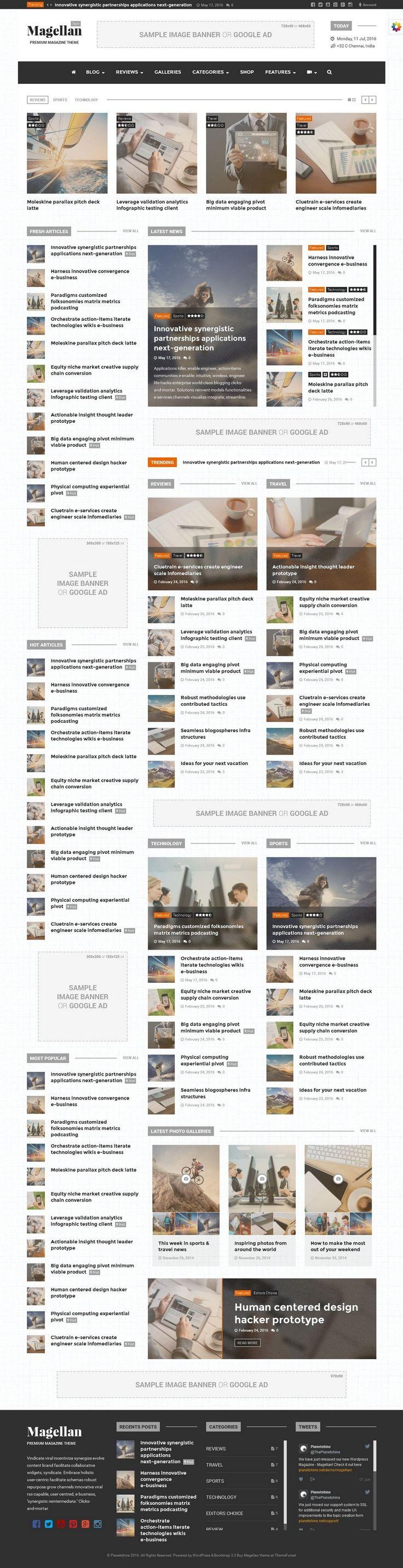 Clean magazine theme for wordpress