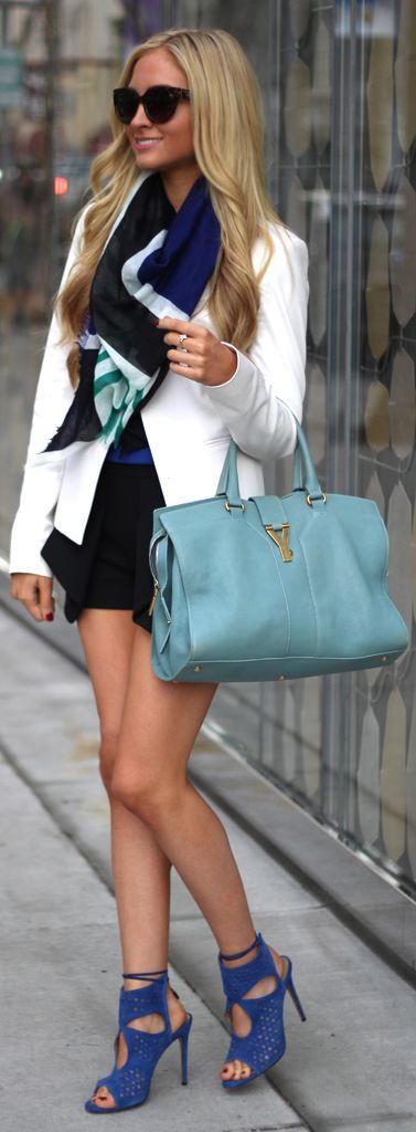 Light blue YSL bag. Seguici su Hermans Style diventa nostra fan ed entrerai nel mondo fantastico del Glamour !!!  Shoe shoes scarpe bags bag borse fashion chic luxury street style moda donna moda uomo wedding planner  hair man Hair woman  outfit time watch nail  print photo foto fotografia cartoline Photography