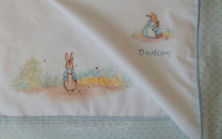 Babies&Deco Maria Hartley Kelly  Juego de sábanas para cuna pintadas a mano