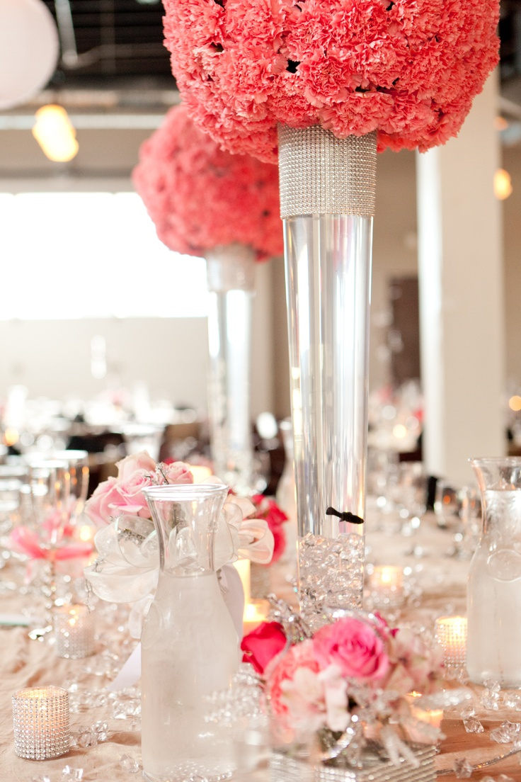 97 best tall centerpiece images on pinterest for Fish centerpieces wedding receptions