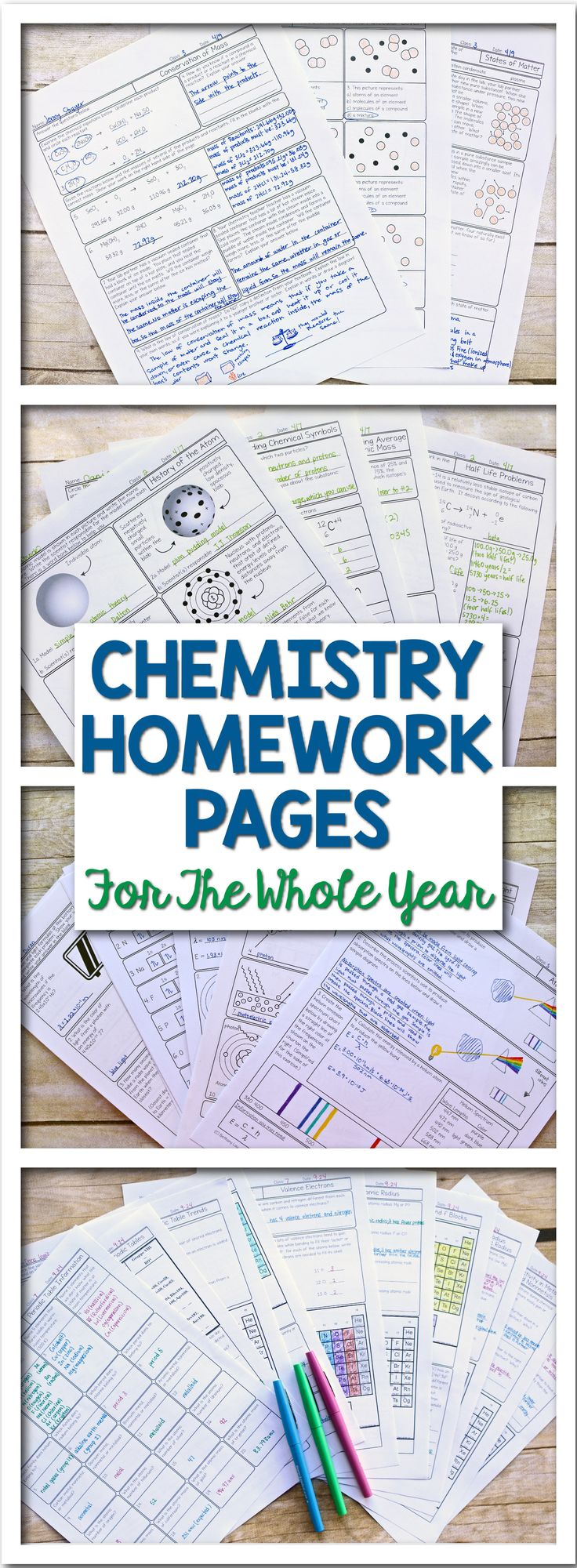 These awesome pages will really make your year teaching chemistry the best you've ever had.  These chemistry worksheets are full of diagrams and thoughtful questions - terrific for both basic level and honors level classes.  They help students work on skills like identifying dipole moments, drawing Lewis structures, identifying periodic table trends and every other skill taught in first year chemistry.  Science with Mrs. Lau