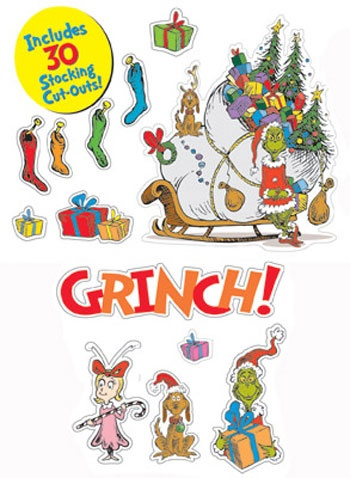 Dr Seuss The Grinch Bulletin Board Set by Eureka $11.99