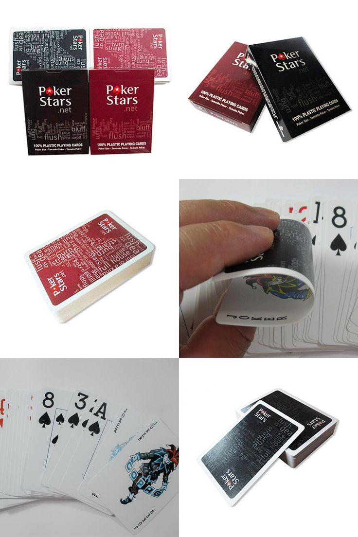 [Visit to Buy] 1 Set Poker Stars Texas Hold'Em Plastic Playing Cards Waterproof Frosting Poker Card Pokerstar Board Game PP0 #Advertisement