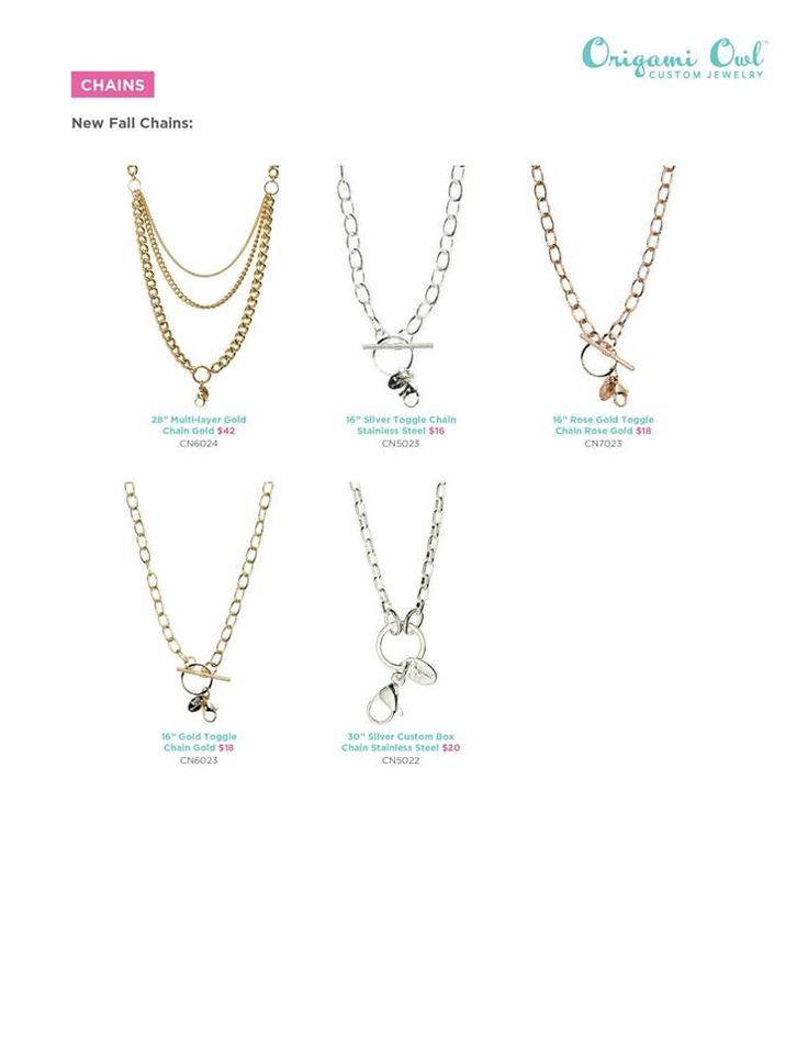 Origami Owl New Chains- Fall 2013 Toggle chain TheLocketLife.com Independent Designer #44857