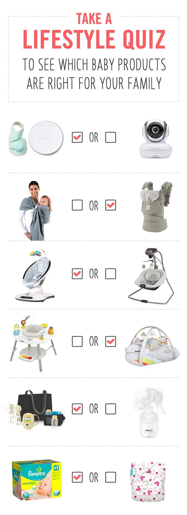 Preparing for baby? Take a lifestyle quiz to get your printable, personalized baby registry checklist. Find out what you really need, not what stores want to sell you.