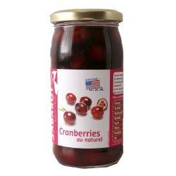 Cranberries au naturel bocal 37cl Sabarot