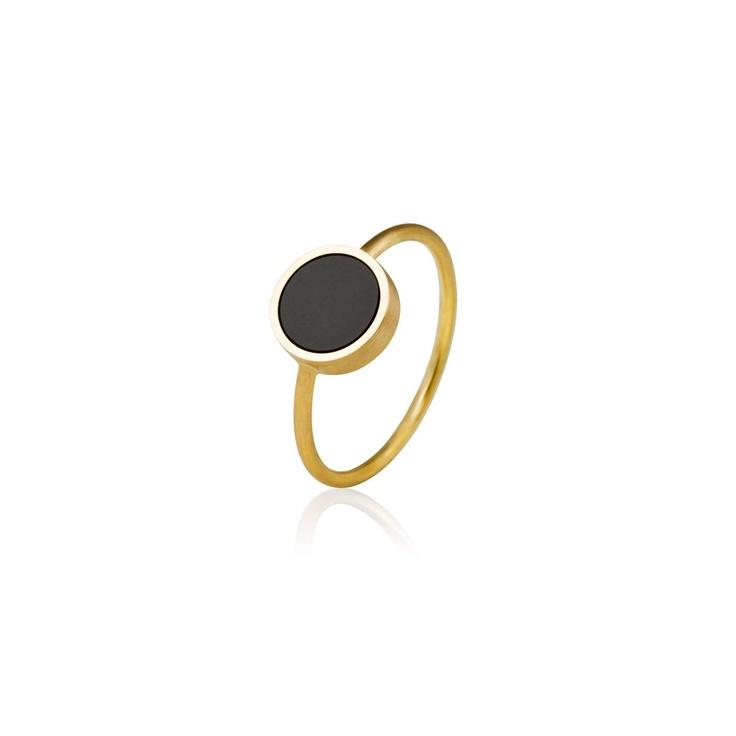 Kun til inspiration - Sort onyx ring håndlavede designer smykker   nuuru.com