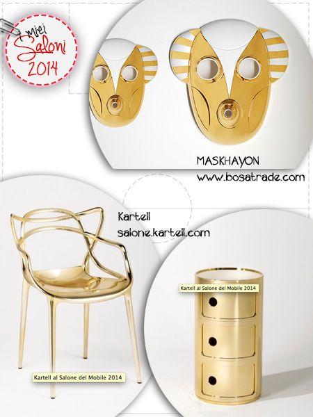 E' tutto oro quello che luccica!  #imieisaloni2014 #Kartell #Bosa #Ceramiche