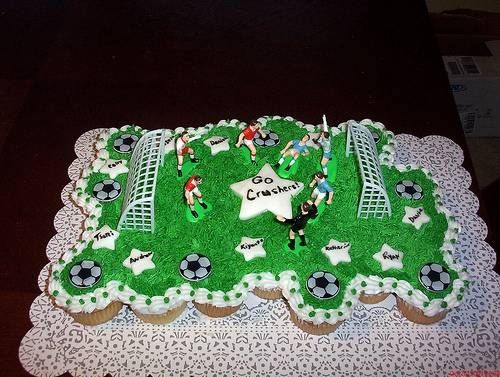 how to make a tired soccer cake