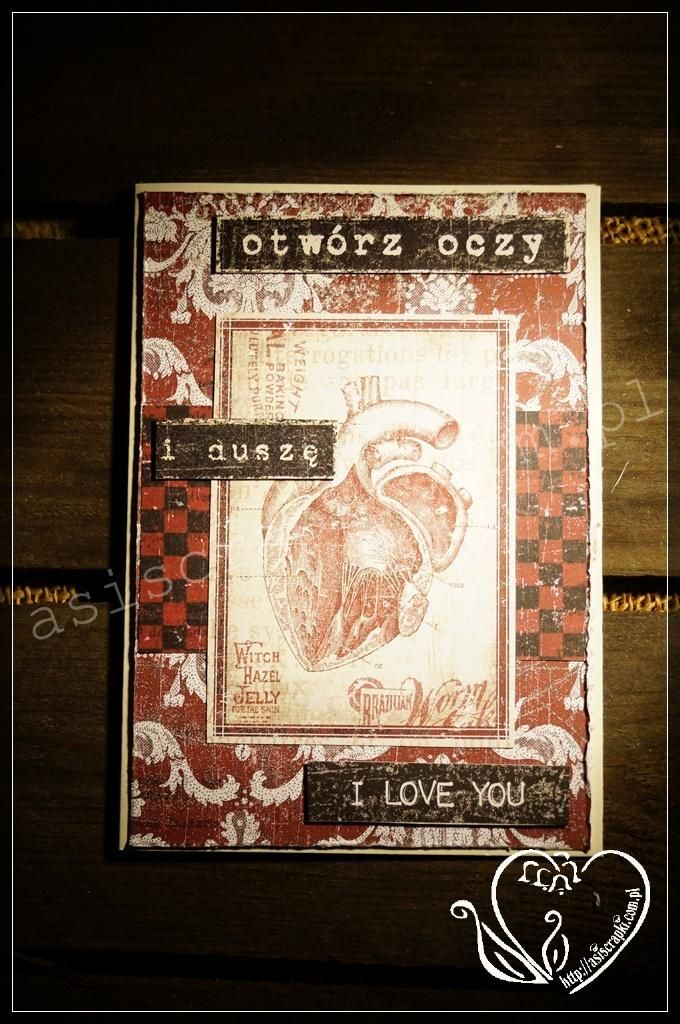 Walentynki kardiologiczne na otwartym sercu z UHK Gallery #asiscrapki