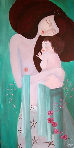 June Leeloo, Mother  and child