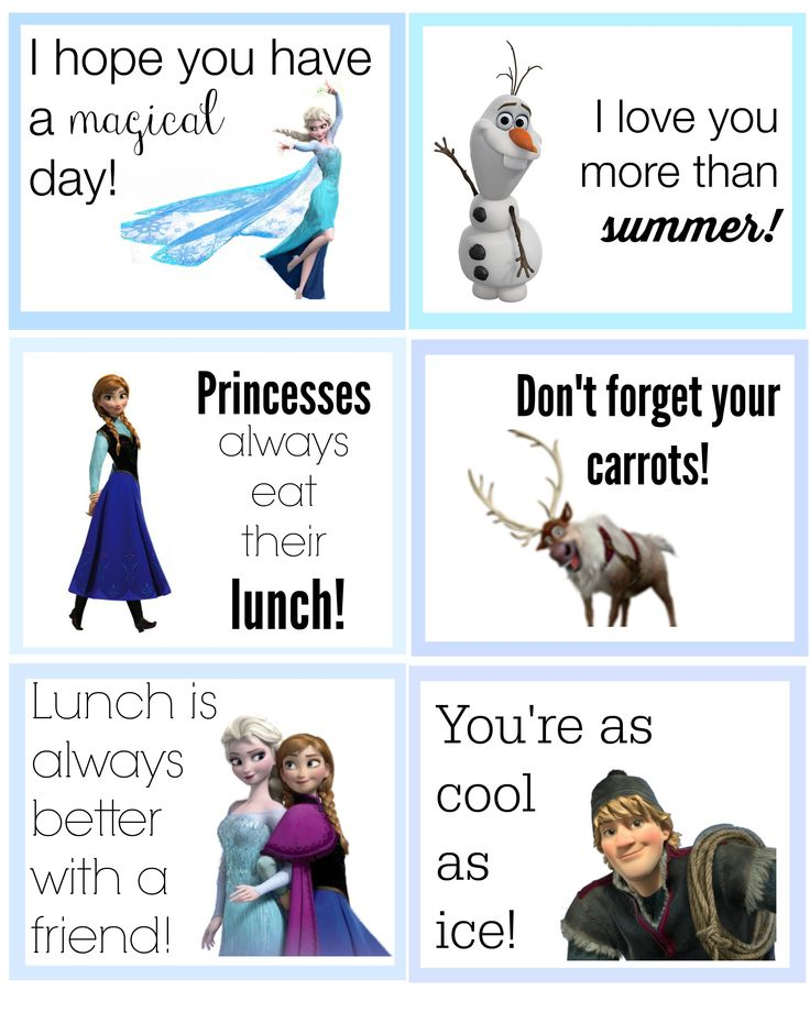 lunch box notes | Free Printable Back to School Lunch Box Notes {Disney Edition!}
