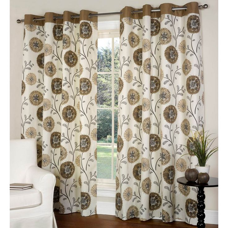 Buy Como Lined Eyelet Curtains Latte | Curtains | The Range