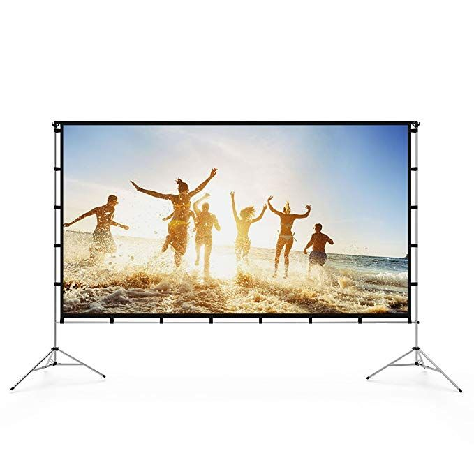Vamvo Outdoor Indoor Projector Screen With Stand Foldable Portable Movie Screen 120 Inch 16 Best Outdoor Projector Outdoor Projector Outdoor Projector Screens