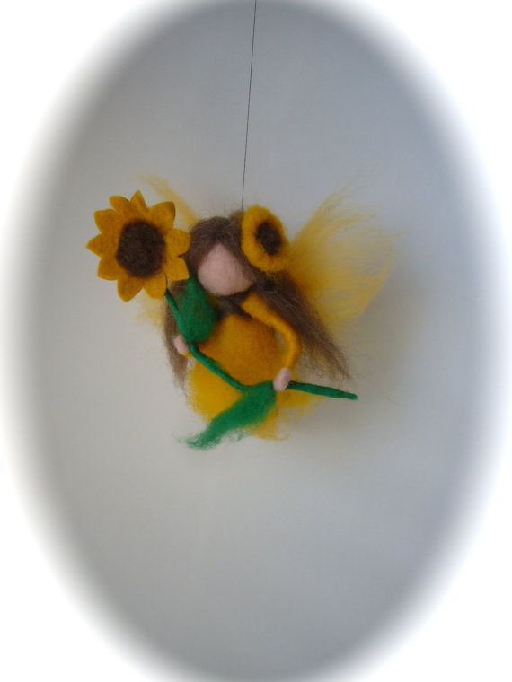 Hey, I found this really awesome Etsy listing at https://www.etsy.com/listing/158377884/sunflower-fairy-needle-felted-elf