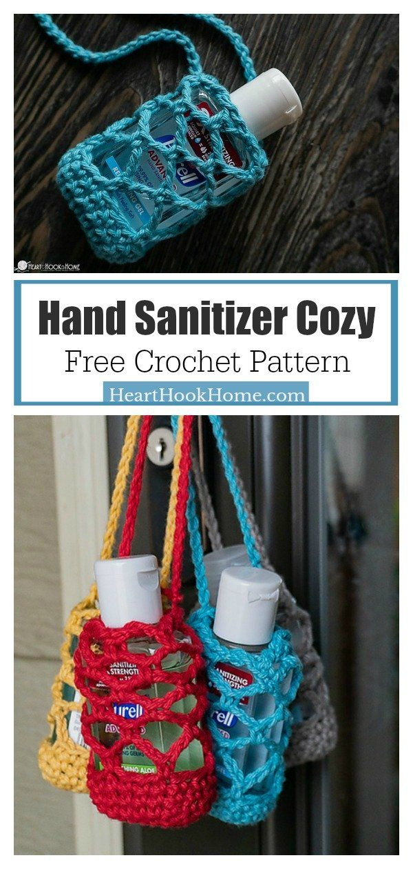 Hand Sanitizer Cozy Free Crochet Pattern Small Crochet Gifts