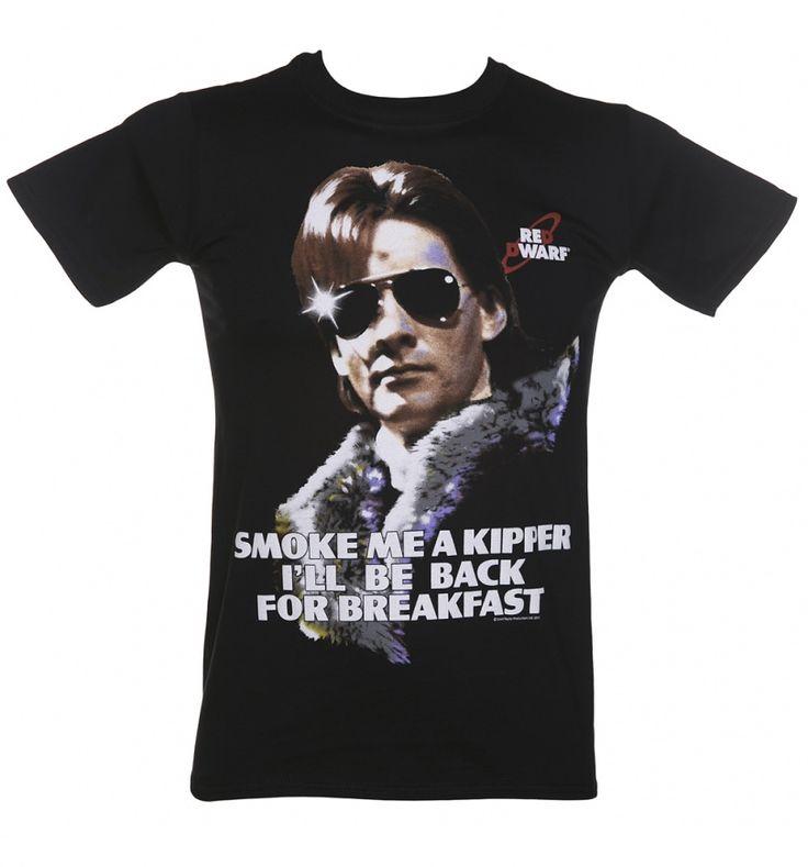 Men's Black Smoke Me A Kipper Red Dwarf T-Shirt