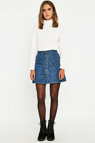 Urban Outfitters – A-Linien-Rock aus Denim - Urban Outfitters