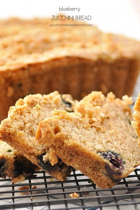 This blueberry zucchini bread is the perfect way to use up all that zucchini in the garden.