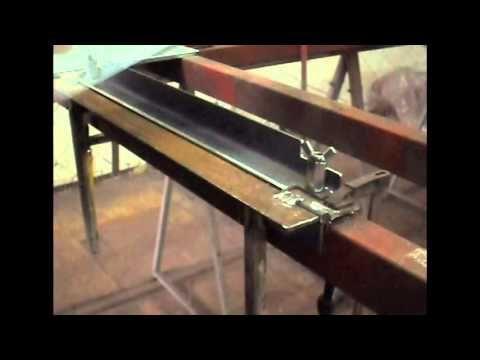 Простой самодельный листогиб/Simple homemade sheet metal brake - YouTube