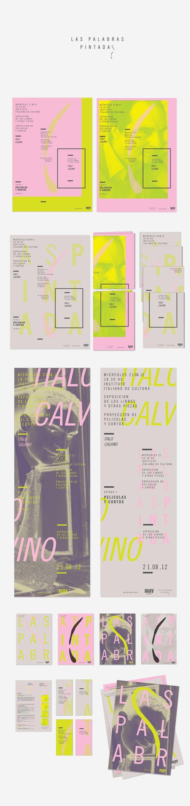 Soft neon / Las Palabras Pintadas branding by Lucía Izco