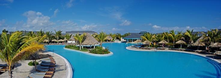 Stunning pool at Melia Las Dunas resort
