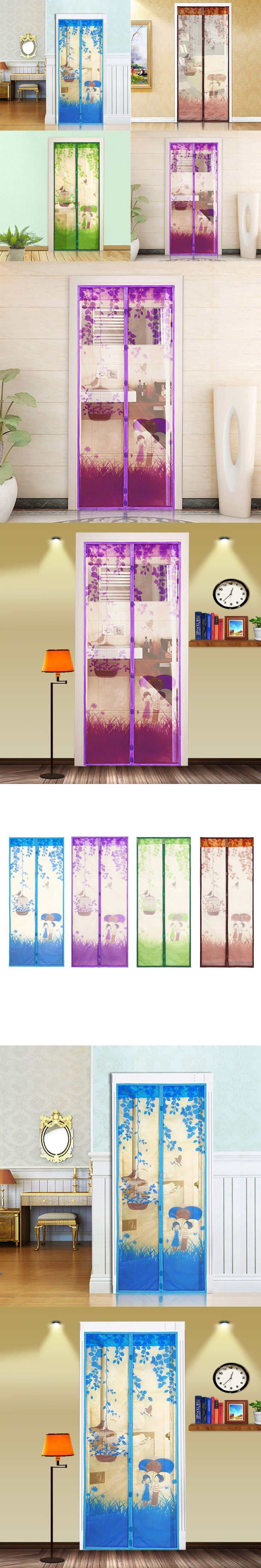 1Pcs 4 Colors Summer Style Bug Mesh Door Magnetic Curtains Net Screen Anti Mosquito Bug Fly Home Gate Door