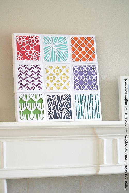 Cut paper or canvas quilt idea (with color)