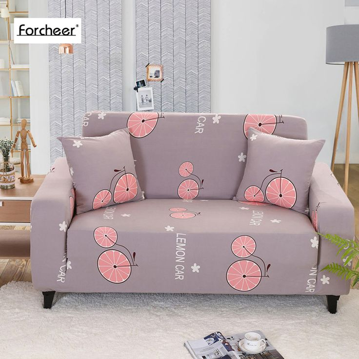 ==> [Free Shipping] Buy Best Floral Print Orange Pattern Tight Wrap All-inclusive Slip-resistant Elastic Sofa Towel Single/Two/Three/Four-seater Sofa Covers Online with LOWEST Price | 32795689084
