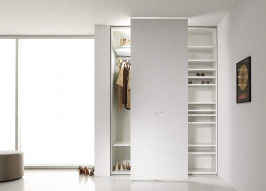 Modern Contemporary Sliding Door Wardrobes System With Display Cabinet