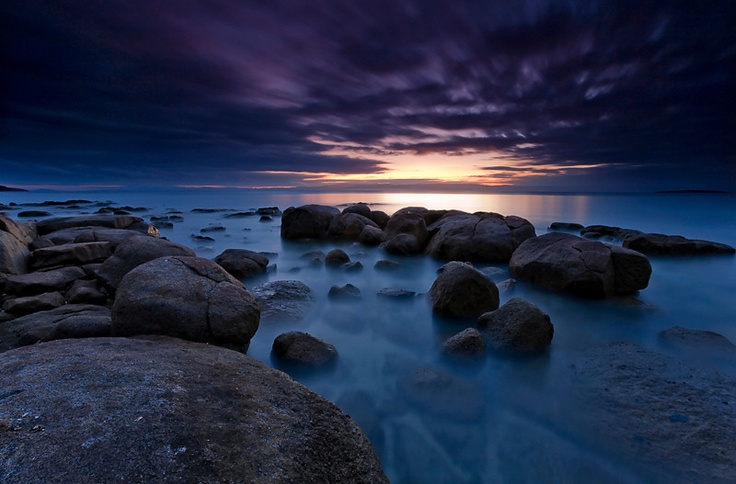 Hazards Beach Sunset, Freycinet National Park, Tasmania