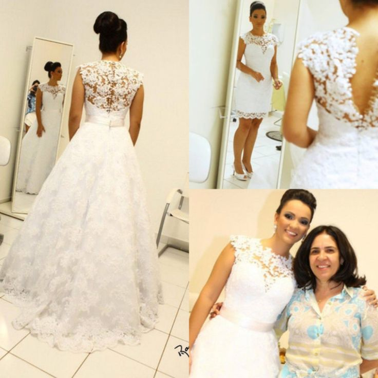 25 best Convertible 2 in 1 wedding dresses images on Pinterest ...
