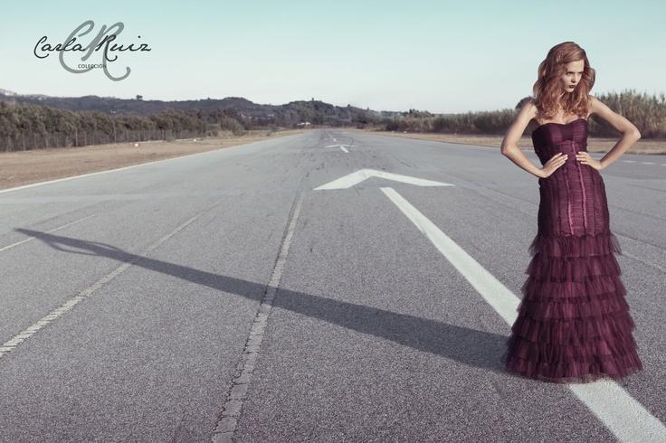 Vestido de Fiesta de Carla Ruiz 2012 - Modelo 86004