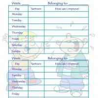 Printable Behavior Control Chart: Boy Tantrums - Printable Chore Charts - Free Printable Activities