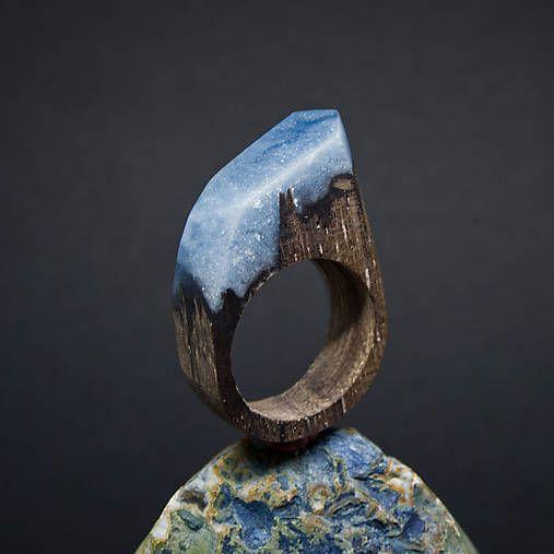 ForestDreamer / Drevený prsteň: S hlavou v oblakoch