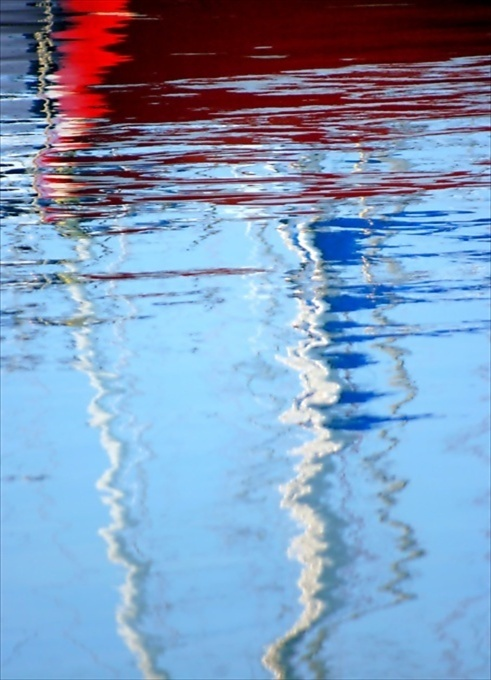 photo Ifigenia Sofia sailing boat reflections, Greece