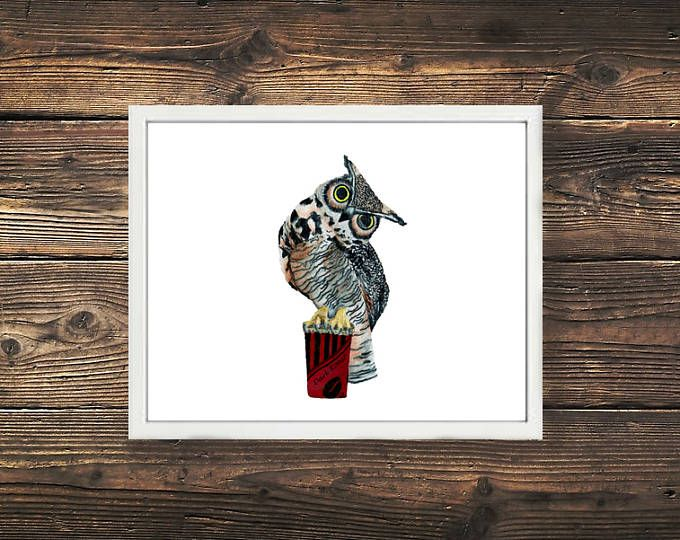 Canadian Great Horned Owl with his dark roast coffee. Love this little guy <3 Illustration Browse unique items from WildNorthCreations on Etsy, a global marketplace of handmade, vintage and creative goods.