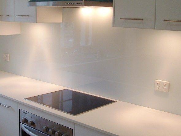 Glass white Splashback so elegant #kitchensplashback
