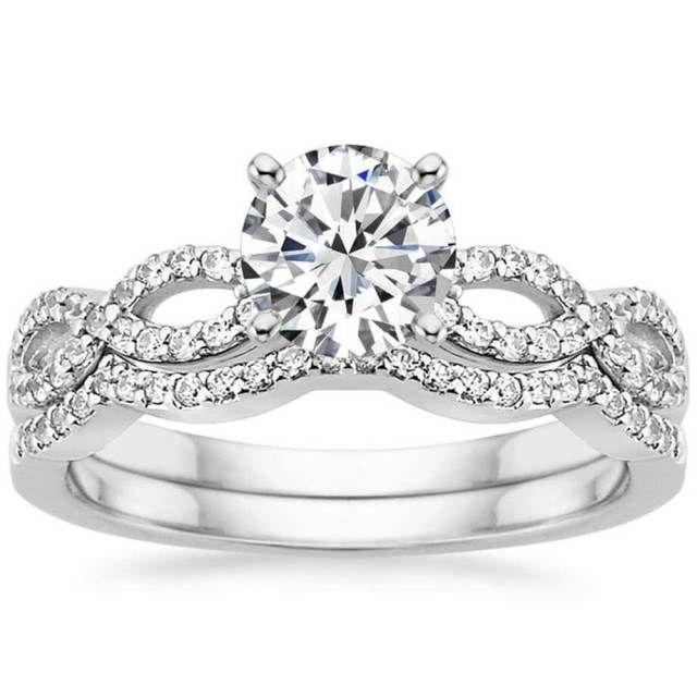 Infinity Wedding Ring Sets 11