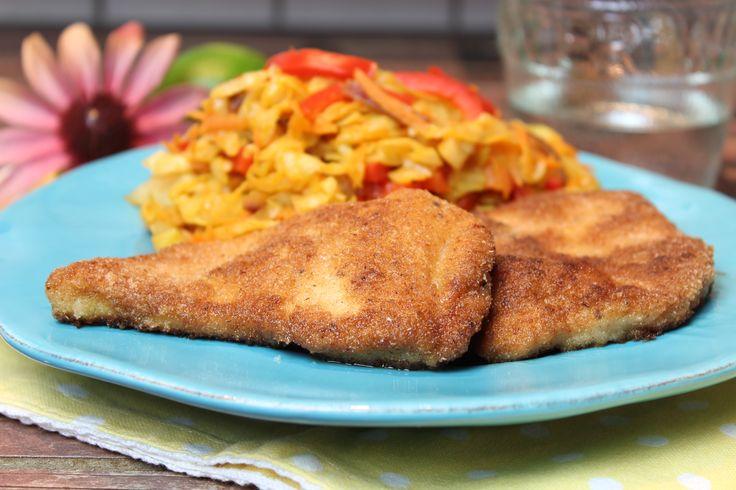 Low Carb Rezepte von Happy Carb: Schnitzel Chakalaka - Was passt besser zu Low Carb, als das afrikanische Kohlgericht.