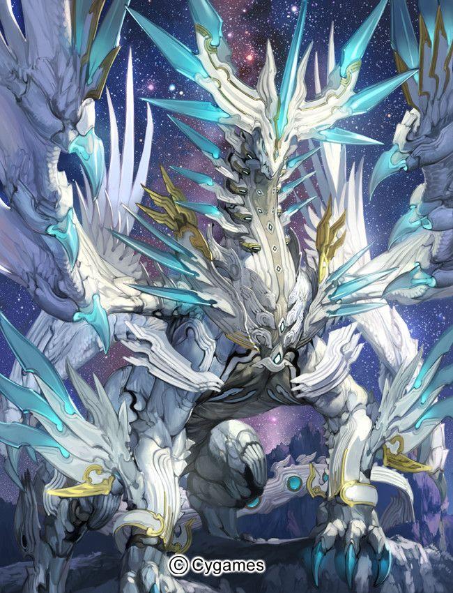 Shingeki no Bahamut dragon in space Rage Of Bahamut