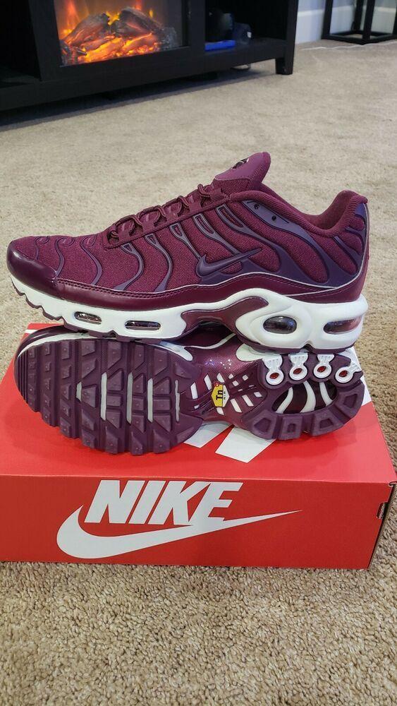 a7ca0194ecc7 Nike Air Max Plus Tuned TN Running Women Bordeaux Purple White AV7912-600  sz 8