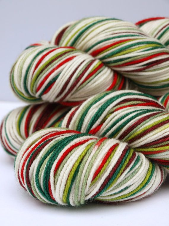 Hand Dyed Sport Weight Yarn Self Striping 100 Superwash by Quaere, $27 ...