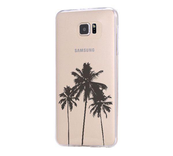Palm Tree California Samsung Galaxy S6 Edge Clear Case Galaxy S6 Transparent Case Samsung S5 Hard Cover C025