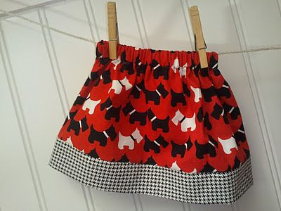 The Little Fabric Blog: Easy Toddler Skirt Tutorial