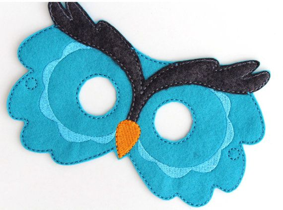 Kids Owl Mask Owl Costume Bird Felt Mask Kids by BabyWhatKnots