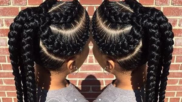 Amazing Hairstyles Compilation For Black Women Definition Braid Blowout Braided Updo Hair Styles Braided Ponytail Hairstyles Cool Hairstyles
