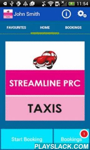 PRC Streamline Taxis  Android App - playslack.com ,  Thank you for your interest in the PRC Streamline Taxis Android App.This App allows you to book a taxi from PRC Streamline Taxis.You can:* Make a booking* Check it's status* Cancel a booking* Track the vehicle on a map* Manage your previous bookings* Manage your favourite addressesThe App is intended for U.K. use only, and therefore all addresses are restricted to within the U.K. Dank u voor uw interesse in de Volksrepubliek China…