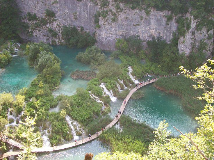 Plitvice National Lakes Park in Plitvička Jezera, Croatia