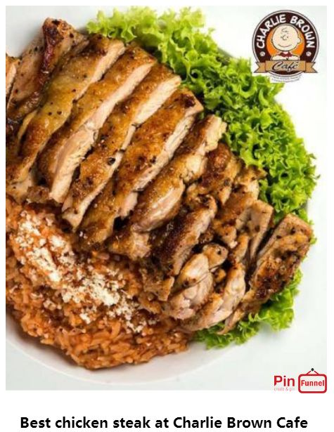 Best chicken steak specials deal 2018 at Charlie Brown Cafe, Orchard Road,   Singapore, the best comics themed cafe at Cathay Cineleisure Orchard. It is   Singapore MUIS Halal certified restaurant and cafe.